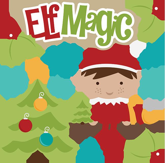 vector freeuse download Elf Magic SVG christmas svg files elf svg file shelf svg file free