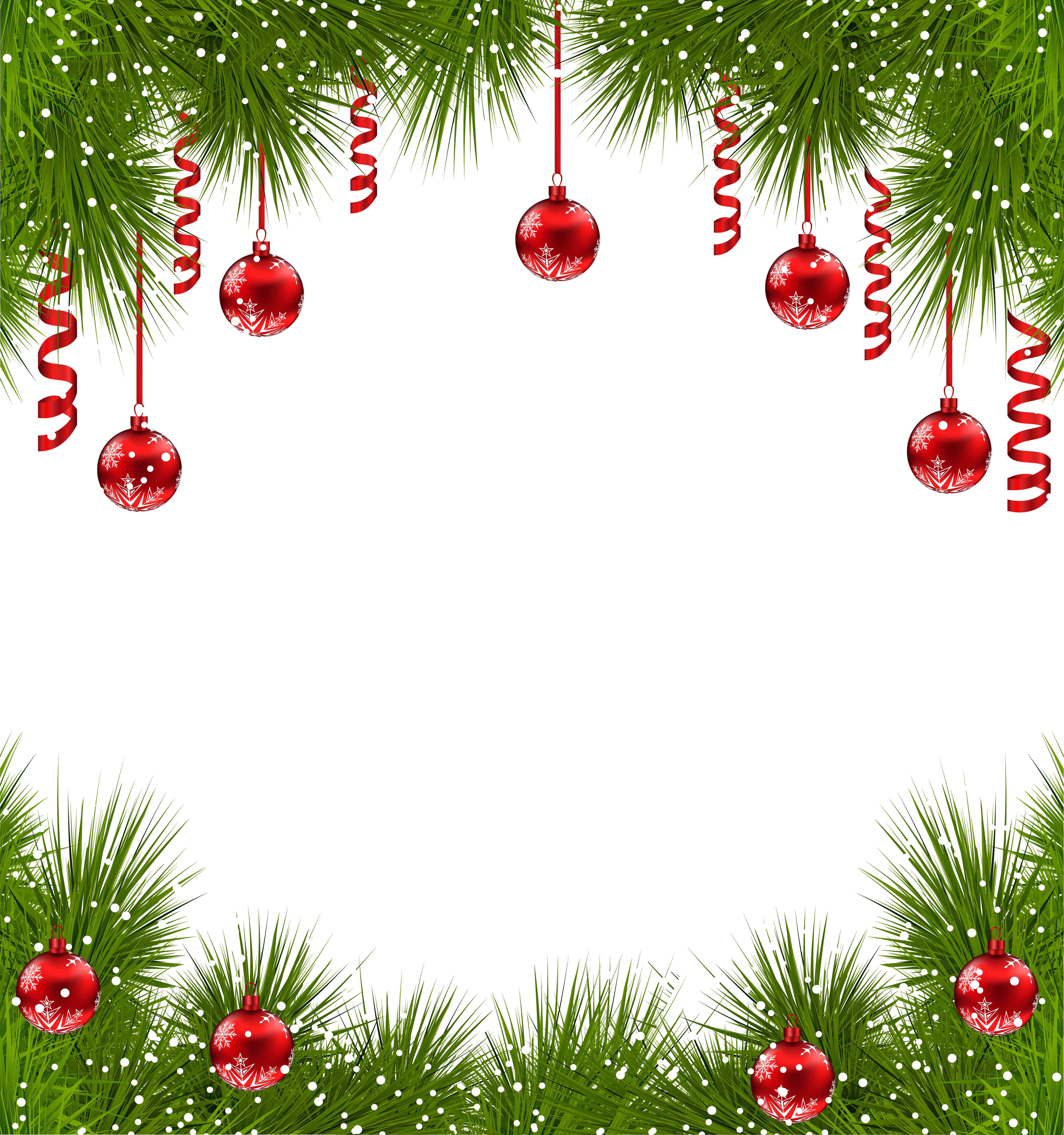 clip free Christmas borders clipart. Transparent png frame with.