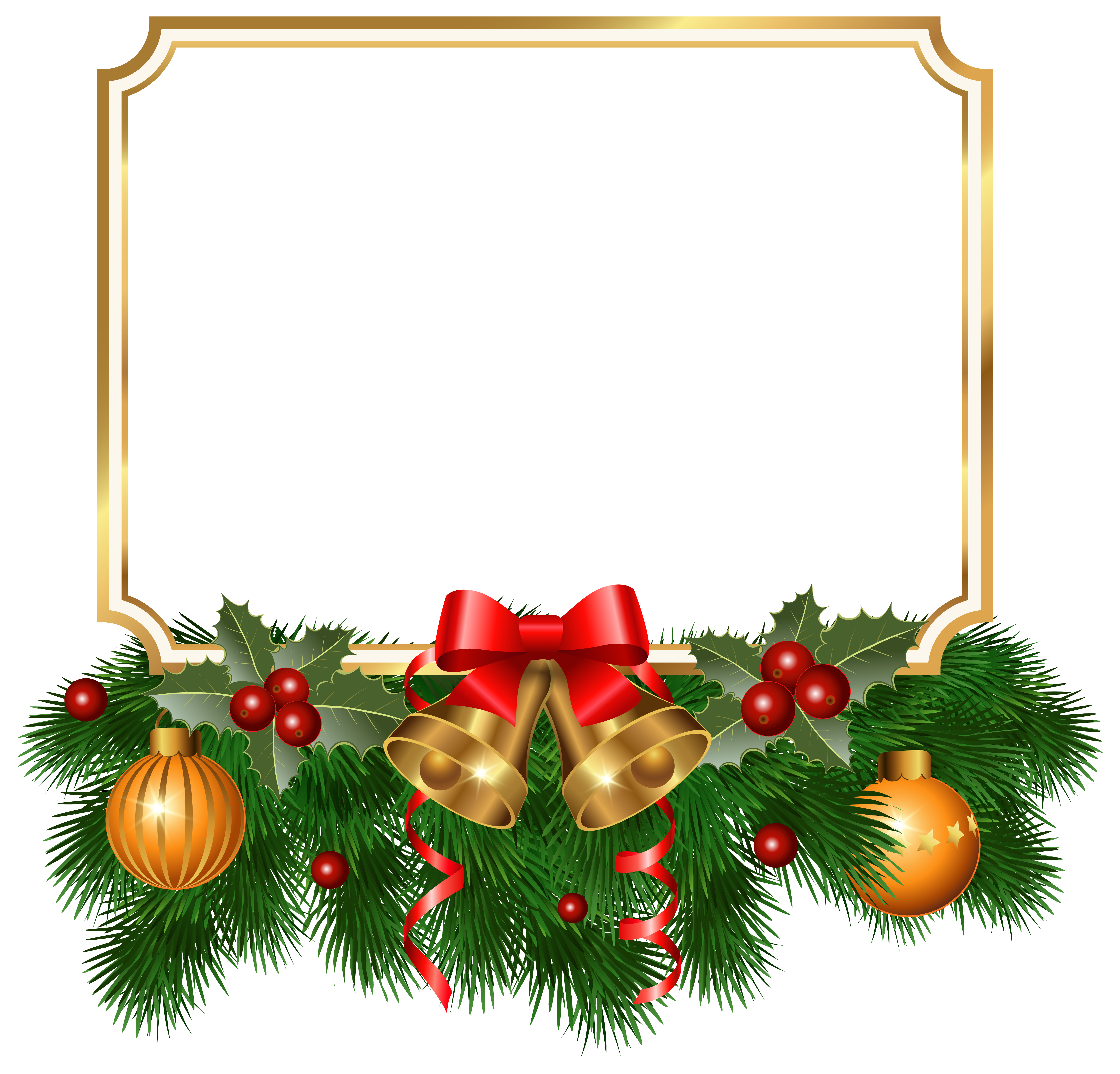 image library download Clipart christmas borders. Golden border png image