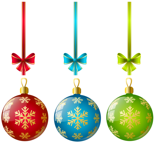 clip art free library Large Transparent Three Christmas Ball Ornaments Clipart