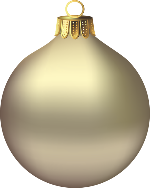 clip royalty free library Transparent Christmas Gold Ornament Clipart