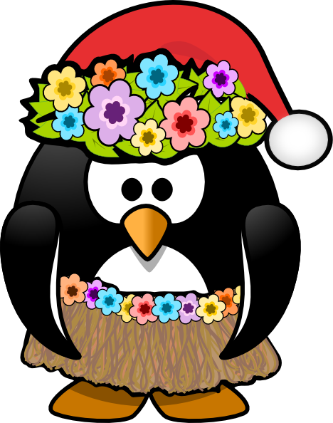vector freeuse library Christmas Penguin Family Clipart