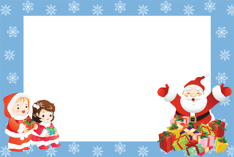 royalty free Free christmas clipart borders for word. Photo frames kids tier