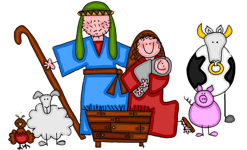 clip art black and white download Christmas play cliparts download. Free manger scene clipart.