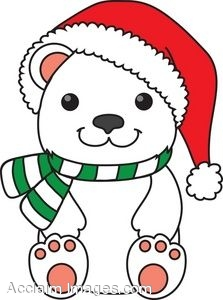 jpg transparent library Christmas polar bear clipart. Clip art arts for