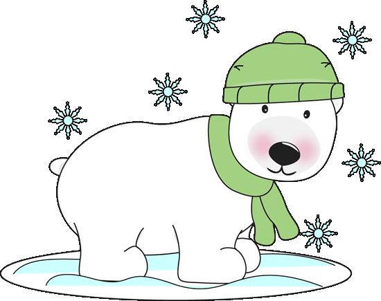 freeuse Christmas polar bear clipart. Free clip art winter