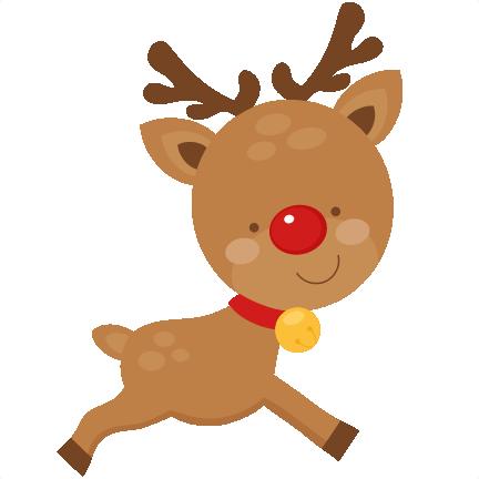 clipart library library Christmas Deer Clipart christmas reindeer scrapbook cut file cute