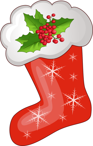 graphic free library CHRISTMAS STOCKING CLIP ART