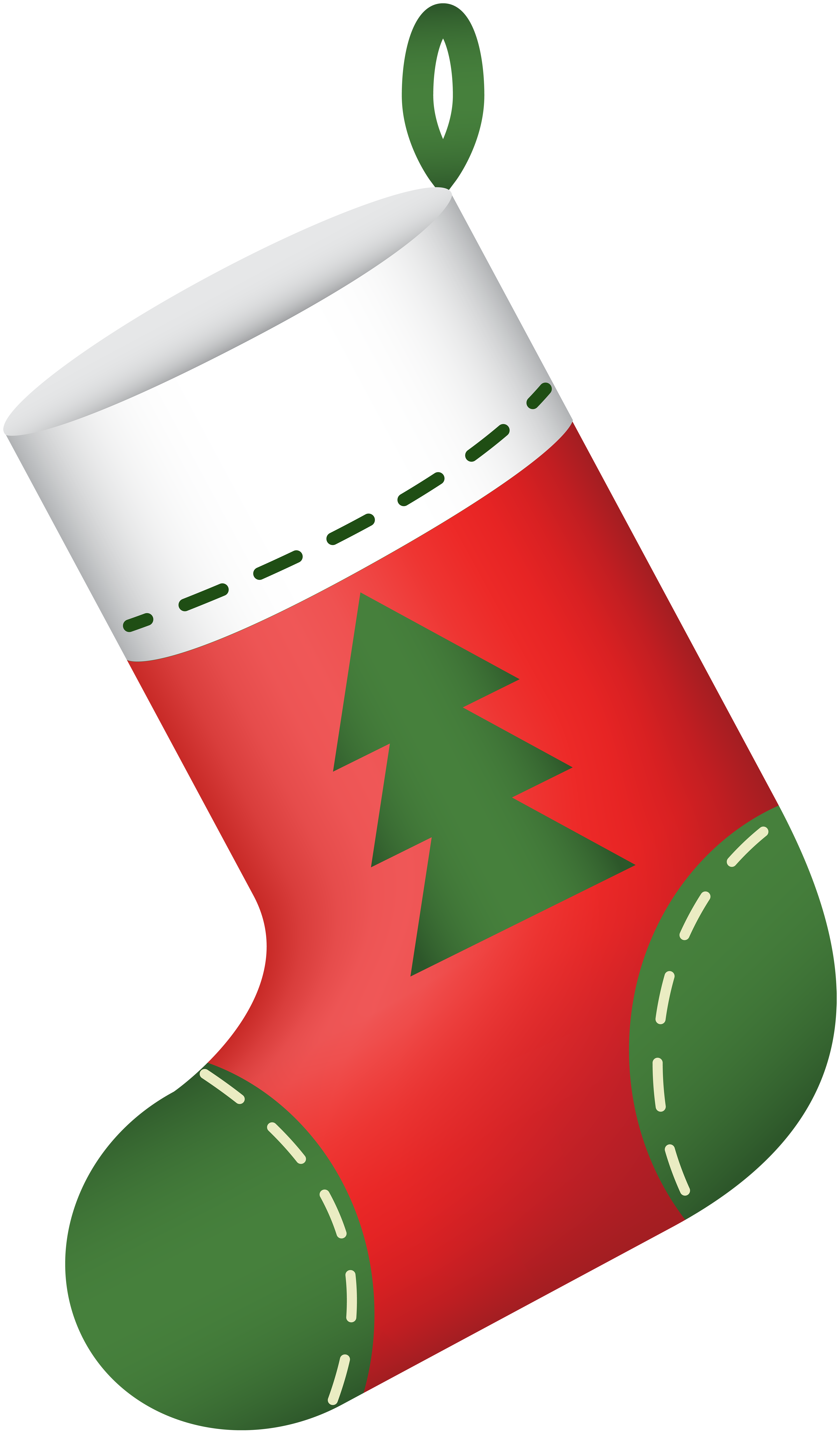 image freeuse download Stocking clip. Christmas red png art.
