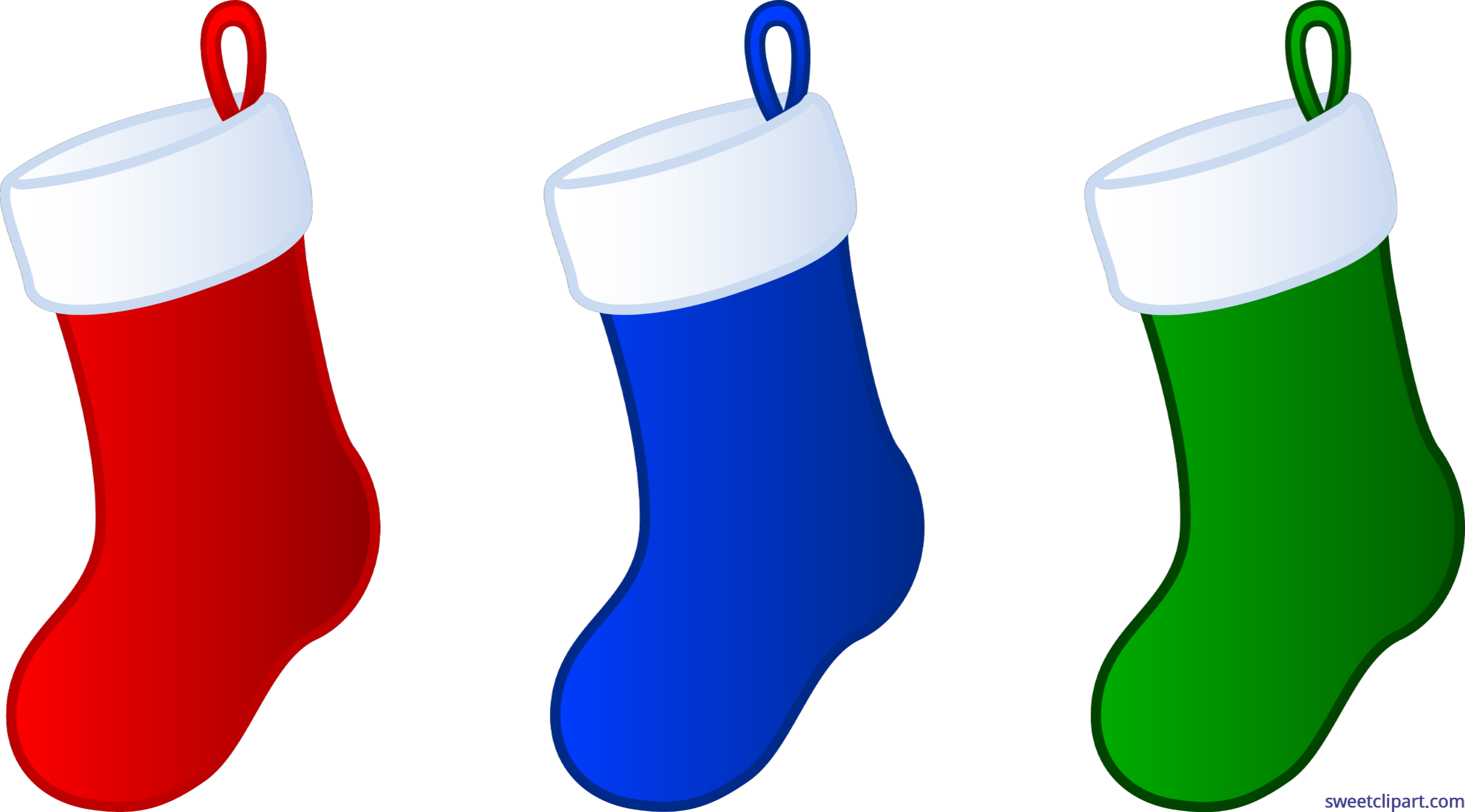 banner royalty free stock Stocking clip. Three christmas stockings art.