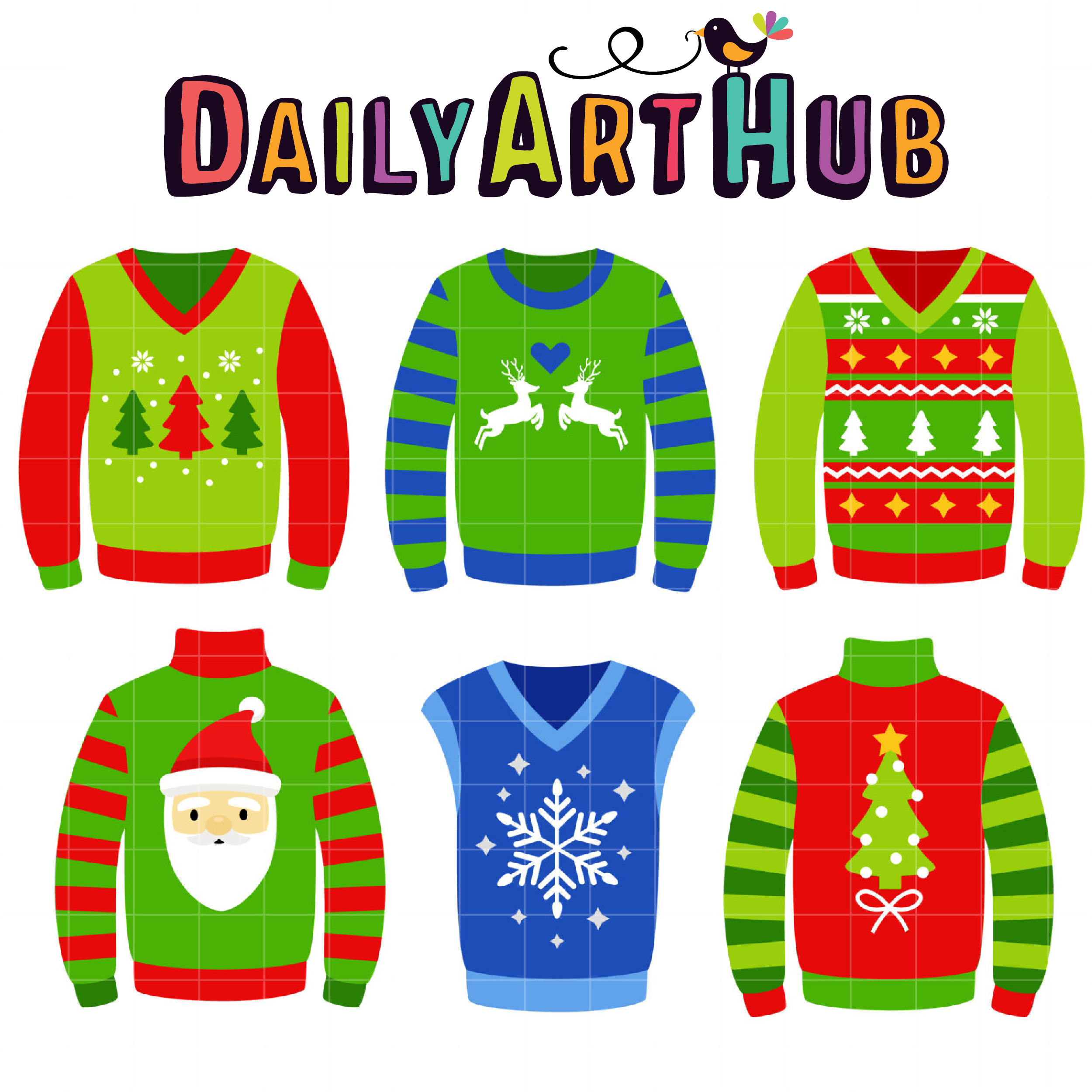 image freeuse library Ugly sweaters clip art. Christmas sweater clipart
