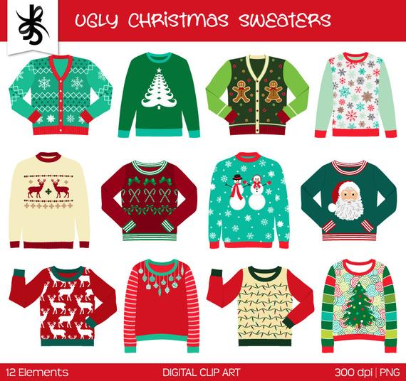 banner download Ugly commercial use digital. Christmas sweater clipart