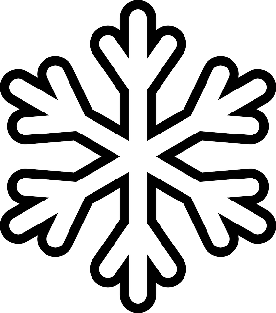 picture royalty free library Snowflake Colouring Pages