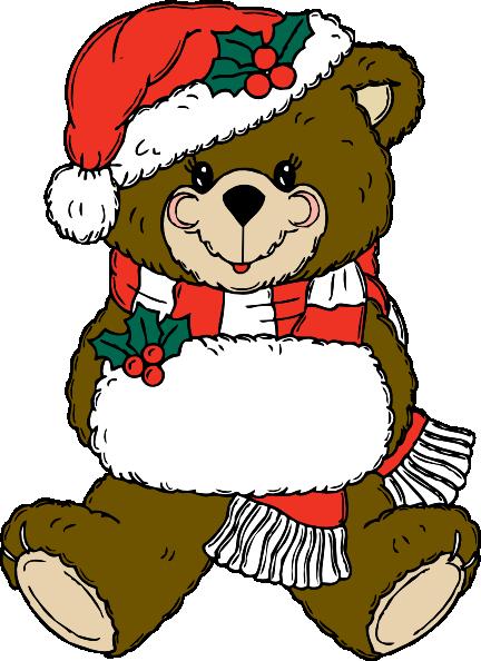 vector black and white Clip art at clker. Christmas teddy bear clipart