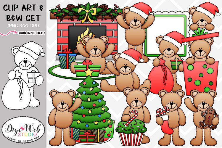 svg free Clip art illustrations bears. Christmas teddy bear clipart