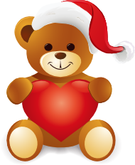 jpg royalty free download Christmas teddy bear clipart. Free cliparts download clip