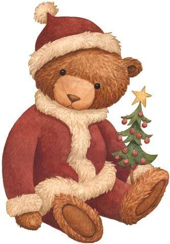 jpg Clip art . Christmas teddy bear clipart