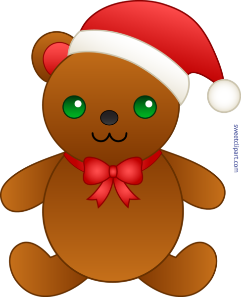 graphic black and white Christmas teddy bear clipart. Archives sweet clip art