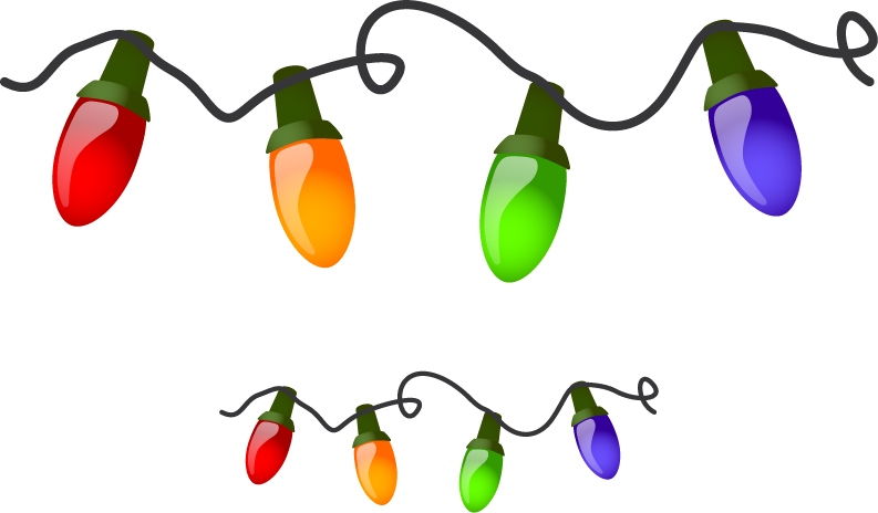 vector freeuse download Lights. Christmas top border clipart
