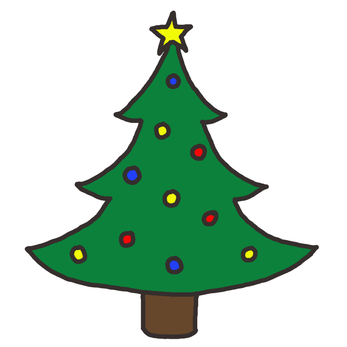 vector library stock Christmas Tree Clipart