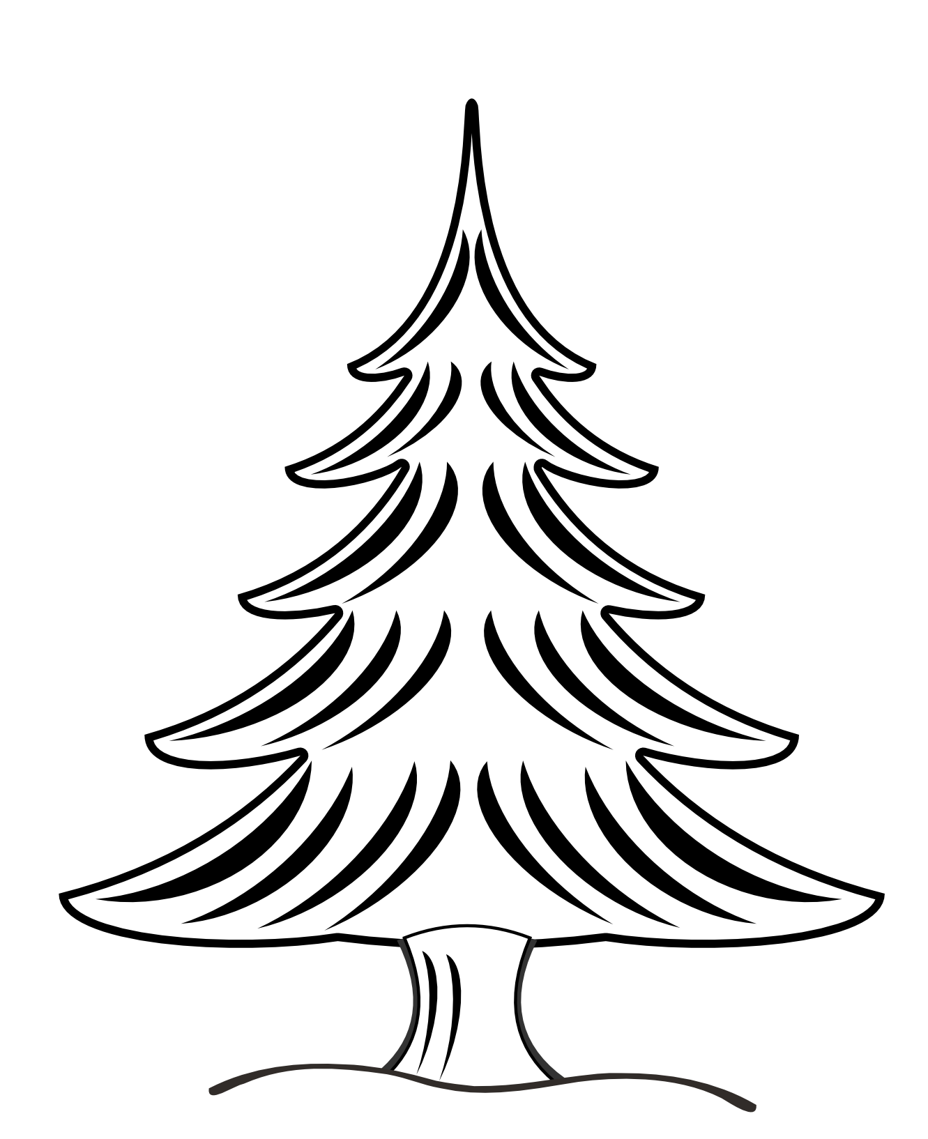 clip art black and white stock Christmas tree panda free. Trees clipart black and white