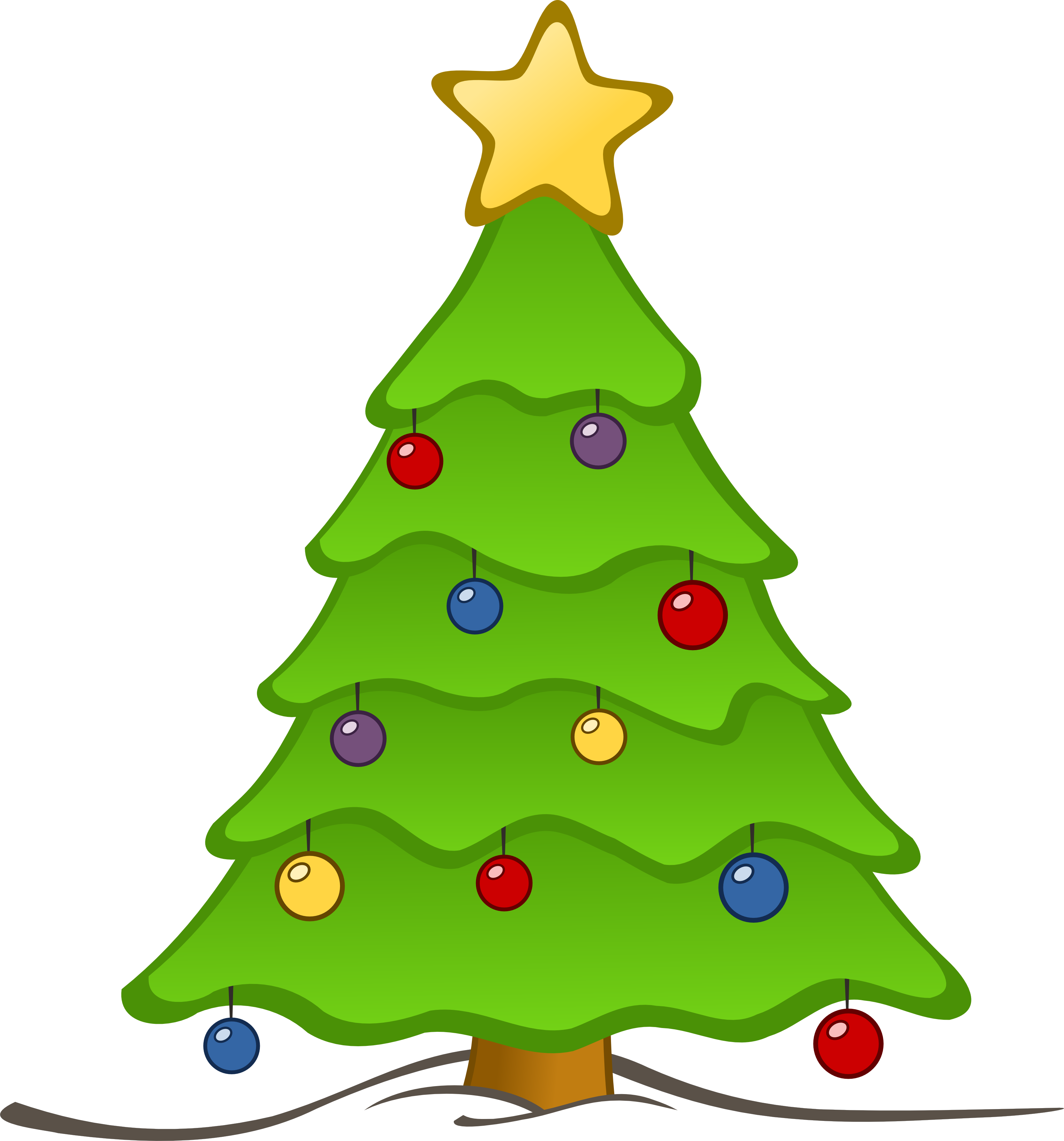 picture transparent library Christmas Tree Clip Art Free