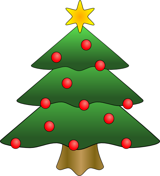 stock Christmas Tree Star Clipart