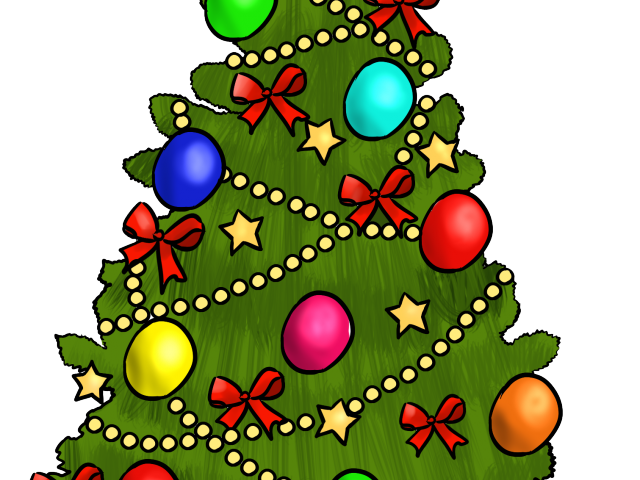 picture free library Christmas tree with presents clipart. Free download clip art