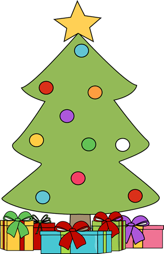 jpg library library At getdrawings com free. Christmas tree with presents clipart