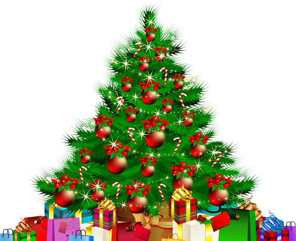 clip free library Christmas tree with presents clipart. Gallery png