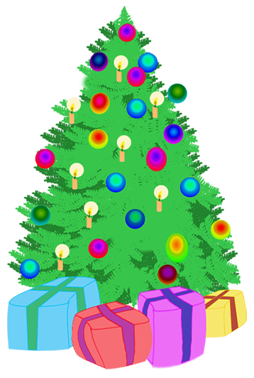 jpg black and white download Christmas tree with presents clipart. At getdrawings com free
