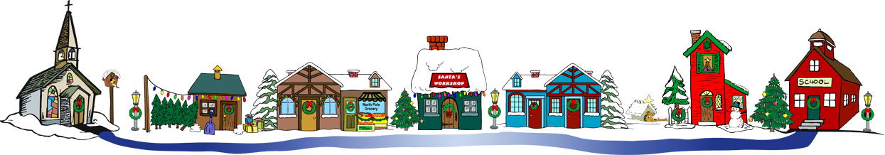 graphic freeuse library Christmas Village Clipart at GetDrawings