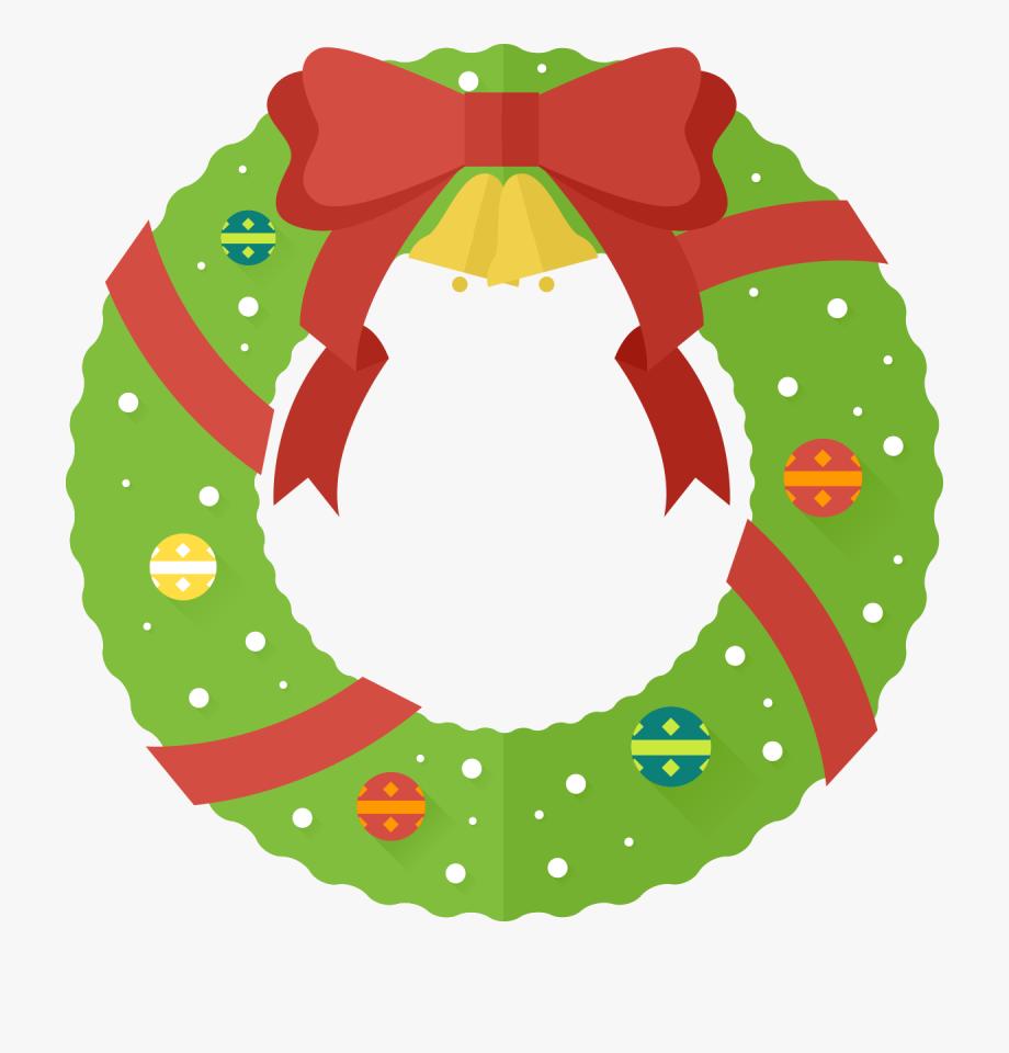 jpg freeuse download Christmas wreath clipart. Clip art cute