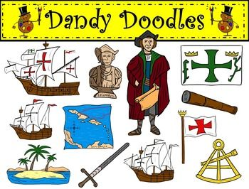 clipart black and white stock Christopher columbus clipart doodle. Clip art by dandy.