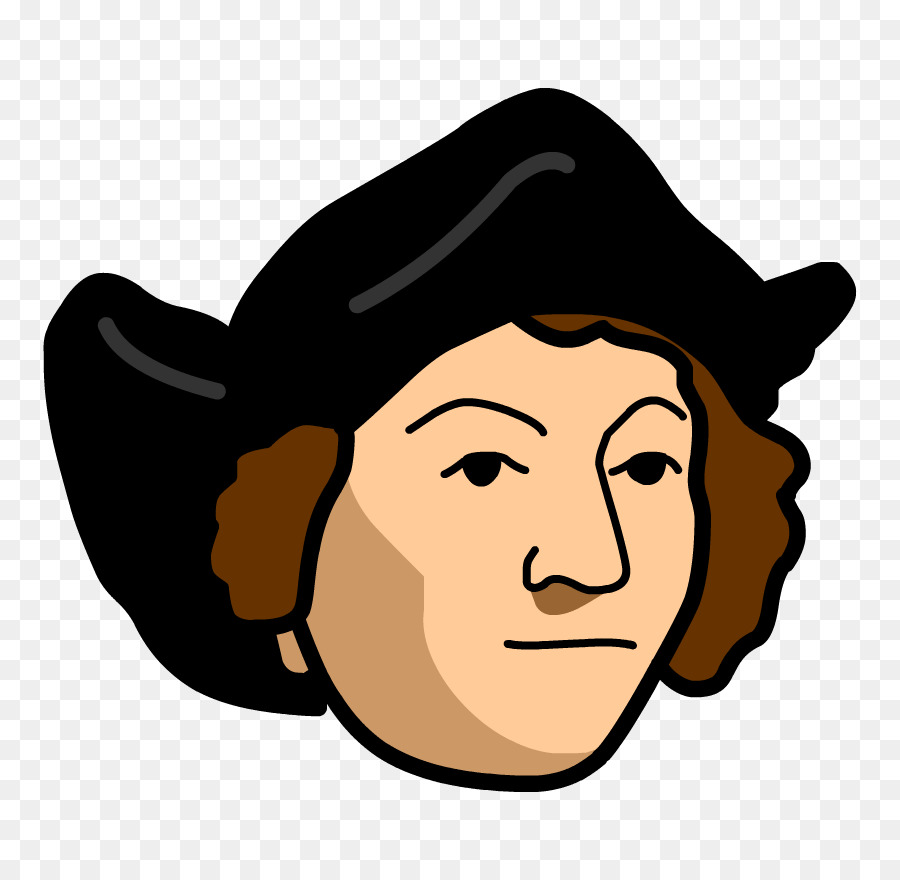clip art library library Christopher columbus clipart transparent. Hat cartoon face nose.