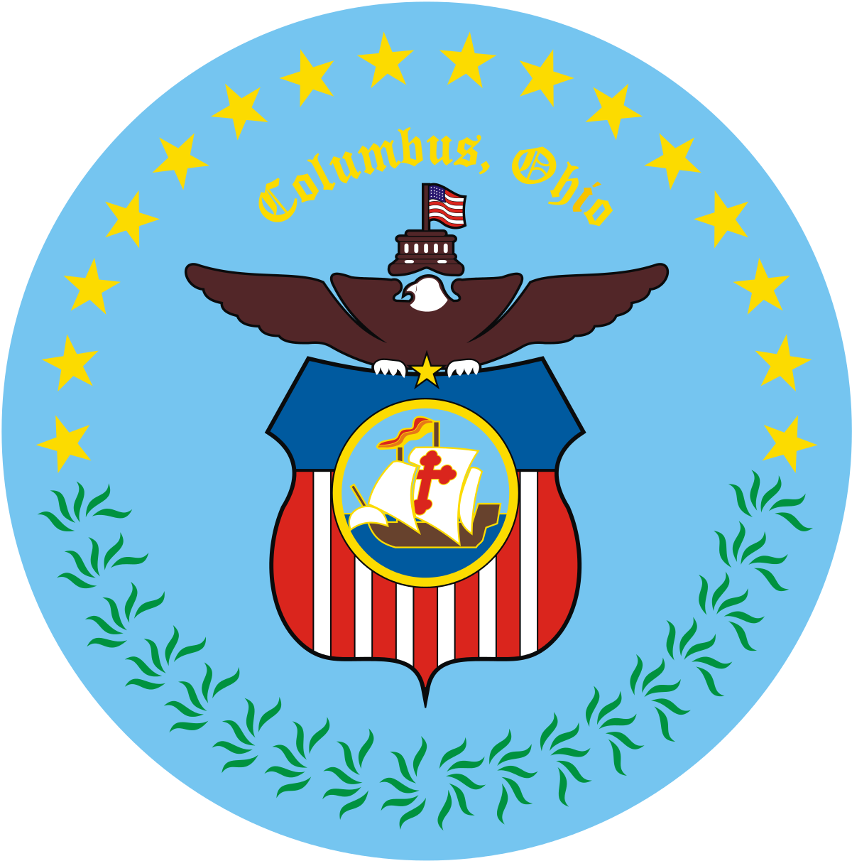 png freeuse library Christopher columbus clipart wikipedia. File seal of ohio.