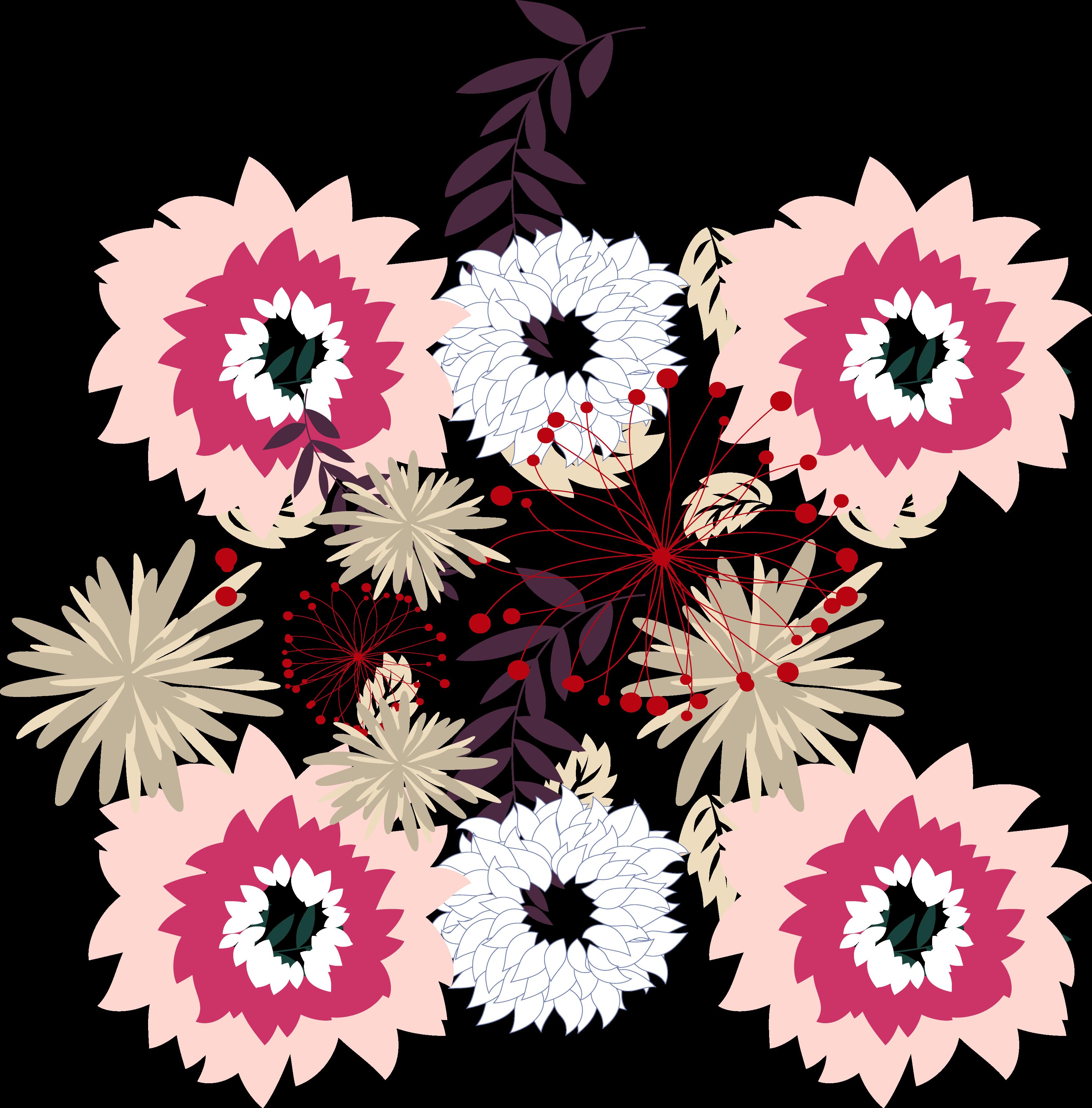 royalty free download Floral design Chrysanthemum Motif