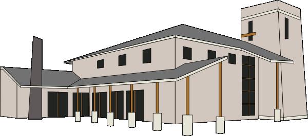 clip free stock Church Building Clip Art at Clker