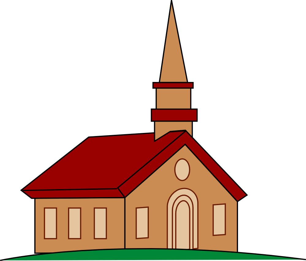 png black and white library Church clipart. Free cartoon cliparts download