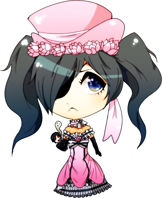 jpg royalty free Kuroshitsuji dress chibi by. Ciel drawing cute.