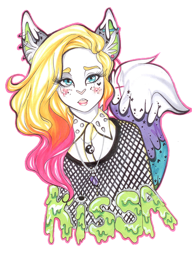 clip art library stock Drawing rainbows pastel. Kissa the goth badge