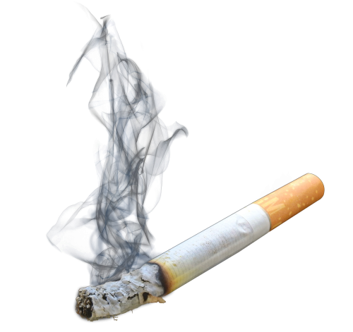 vector black and white stock Smoking Cigarette PNG Transparent Image