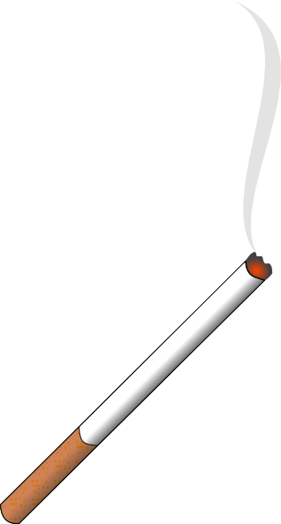 graphic black and white download Lit Cigarette Clip Art at Clker