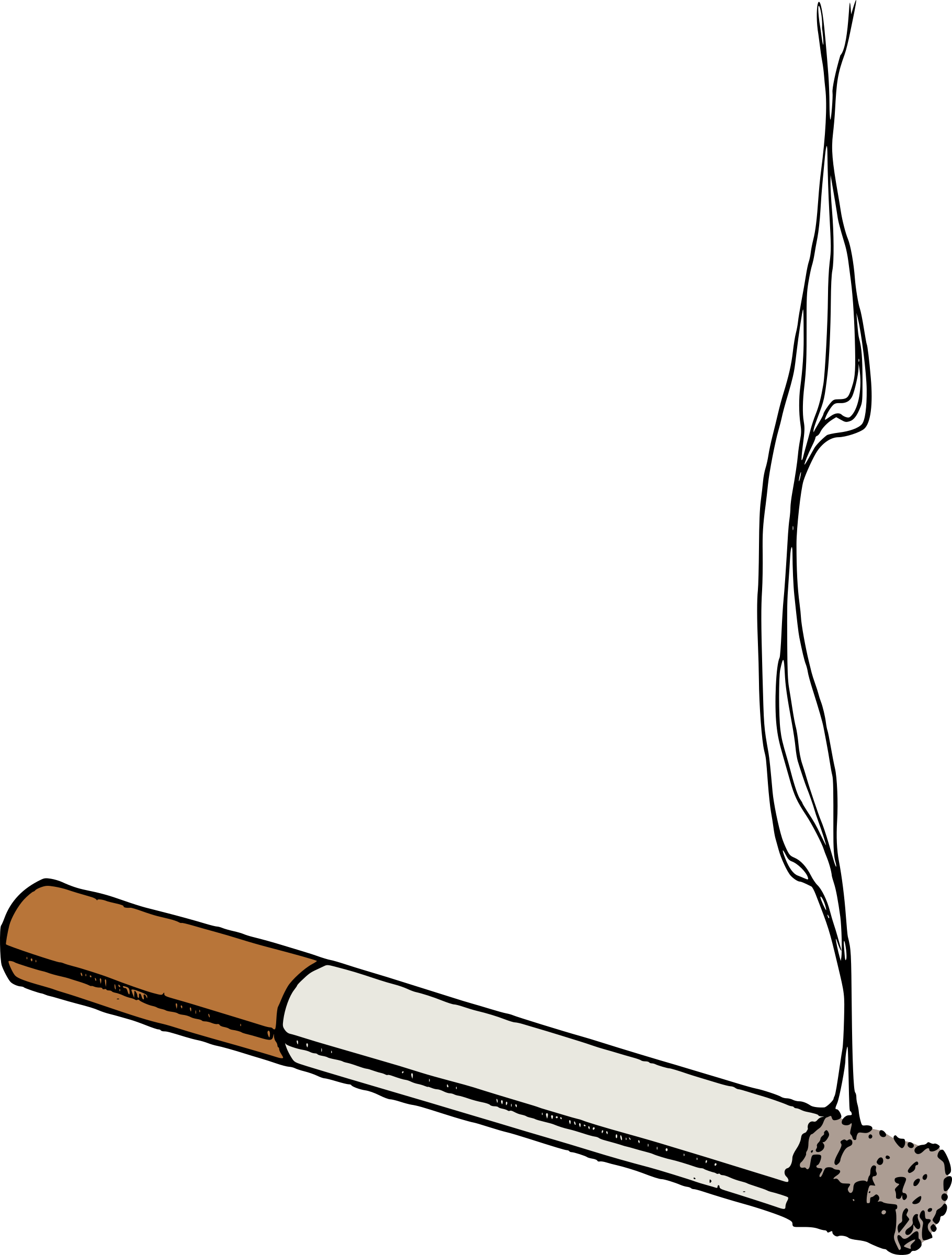 picture royalty free library Colour big image png. Cigarette clipart.