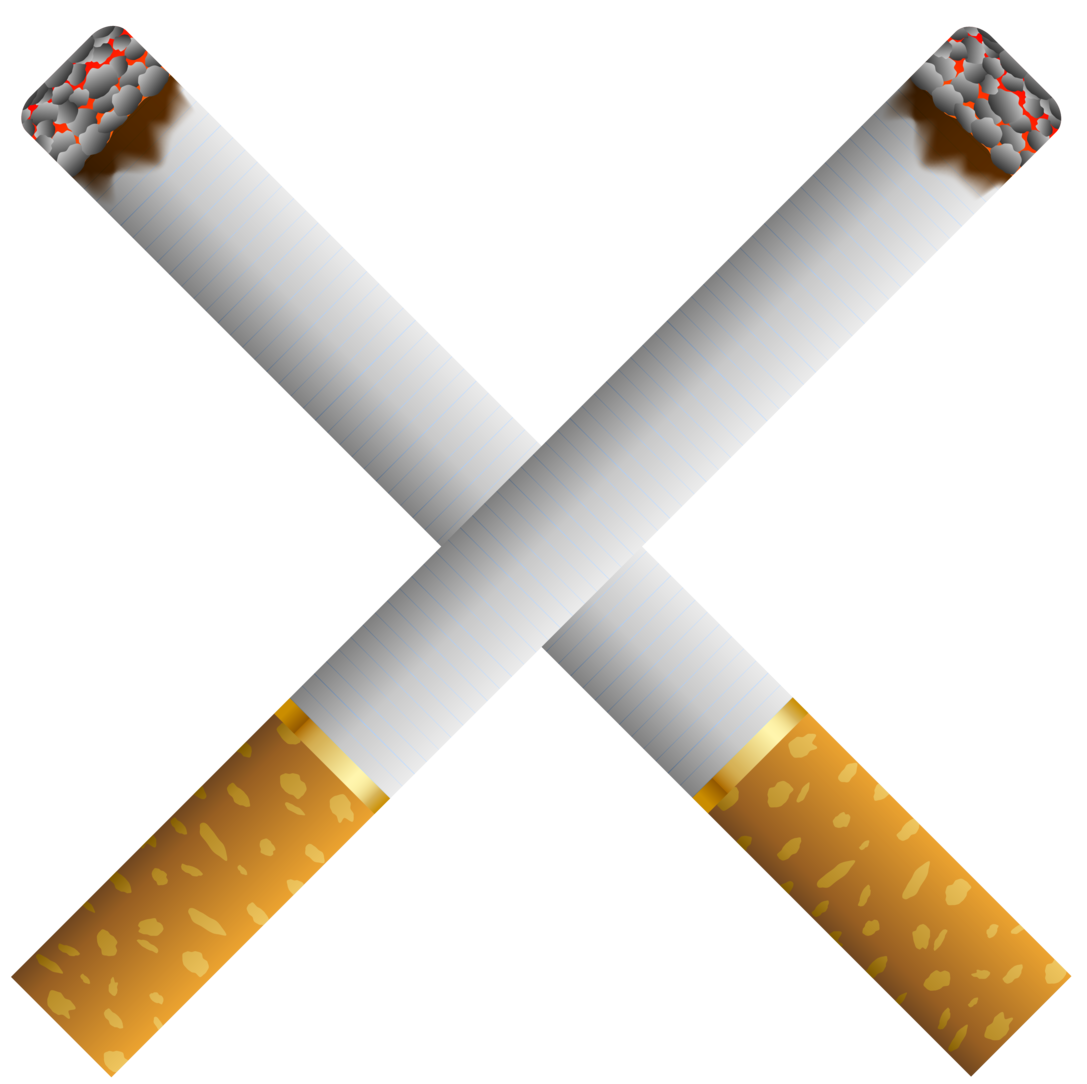 clip royalty free stock Two crossed cigarettes png. Cigarette clipart.