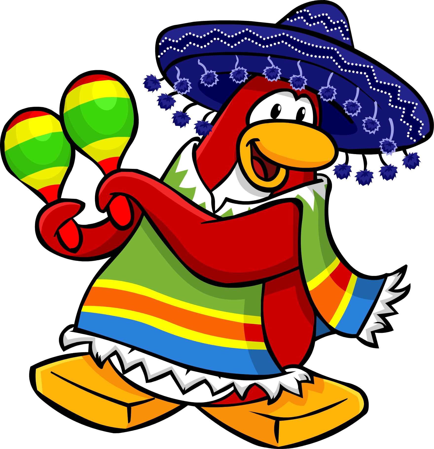 graphic black and white maracas clipart club penguin #80852520