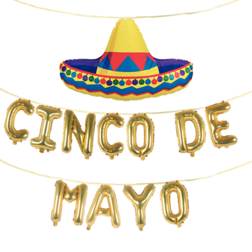 banner free Balloons free shipping instaballoons. Banners transparent cinco de mayo