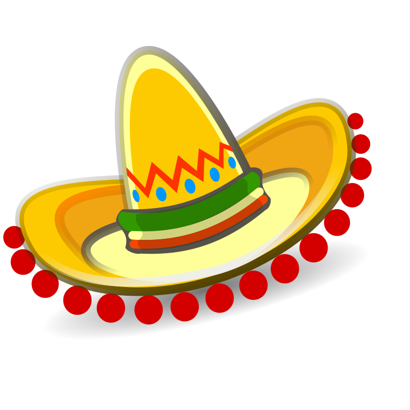 graphic royalty free library mexican hat clipart
