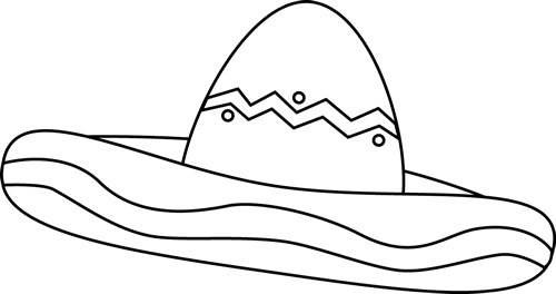 clipart freeuse library Black and white clip. Cinco de mayo clipart sombrero.