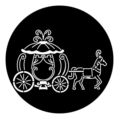 clipart freeuse stock Cinderella carriage black and white clipart. Gobo projected image